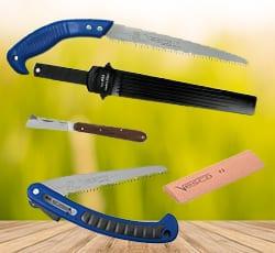 Ножи, пилы и камни для заточки
